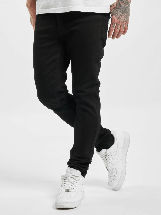 Denim Project Skinny Jeans Mr. Green schwarz