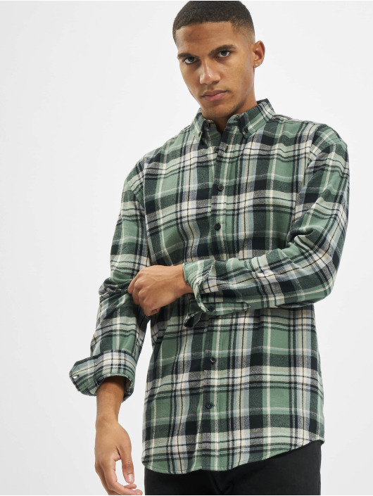 Denim Project Skjorter Check grøn