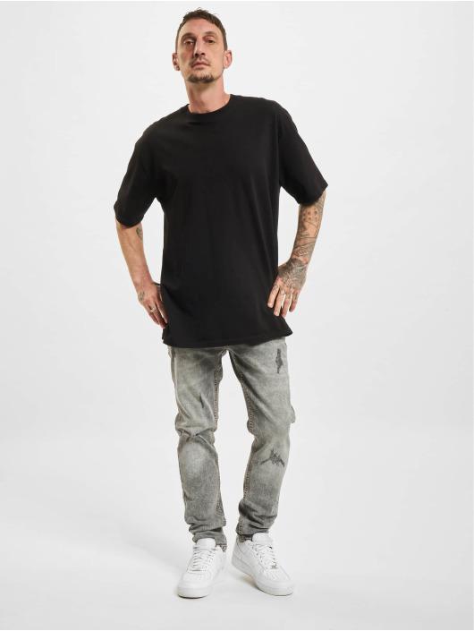 Denim Project Slim Fit Jeans Mr Red Light Destroy grau