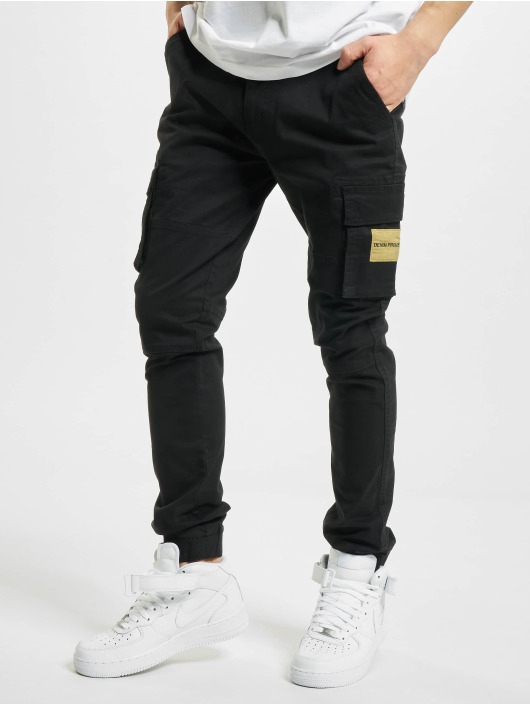 Denim Project Spodnie Chino/Cargo Patch czarny