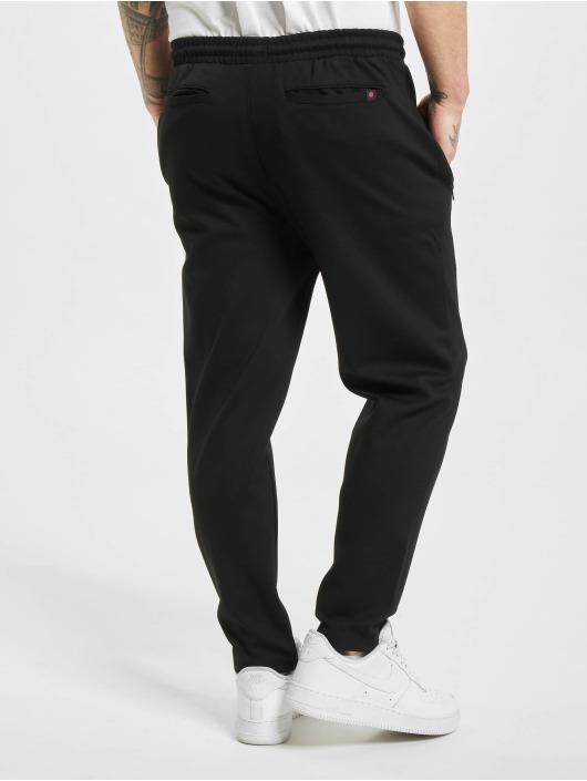 Denim Project Spodnie wizytowe Ponte Elastic Cropped czarny