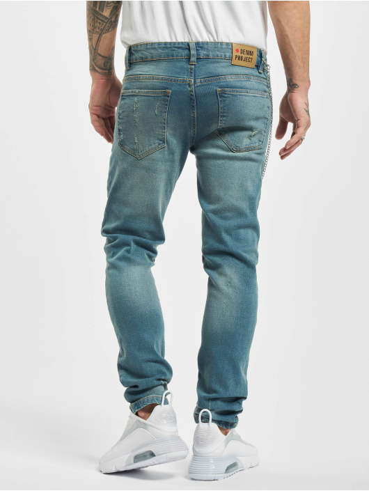 Denim Project Straight Fit Jeans Mr. Red Chain Destroy blue