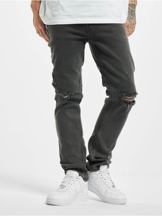 Denim Project Straight Fit Jeans Mr Red Knee grau