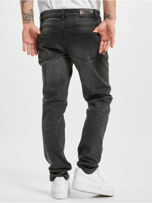 Denim Project Straight Fit Jeans Mr. Red Destroy grau