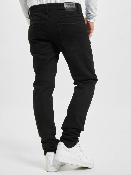 Denim Project Straight fit jeans Mr. Red Destroy zwart