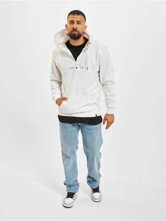 Denim Project Sweat capuche Fleece Halp-Zip blanc