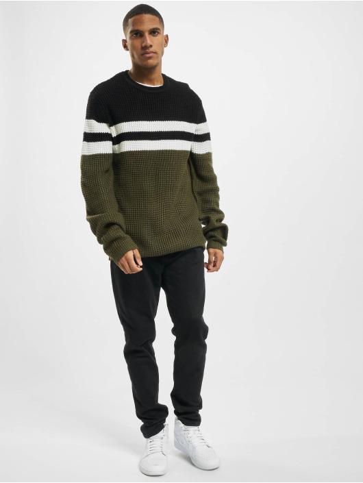 Denim Project Swetry Stripe czarny