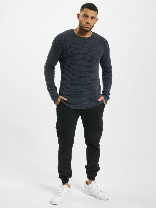 Denim Project Swetry Heavy Knit niebieski
