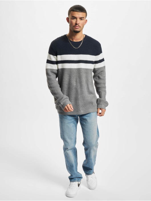 Denim Project Swetry Strip Knit niebieski