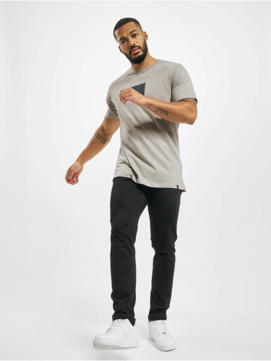 Denim Project T-Shirt Front S Logo grau