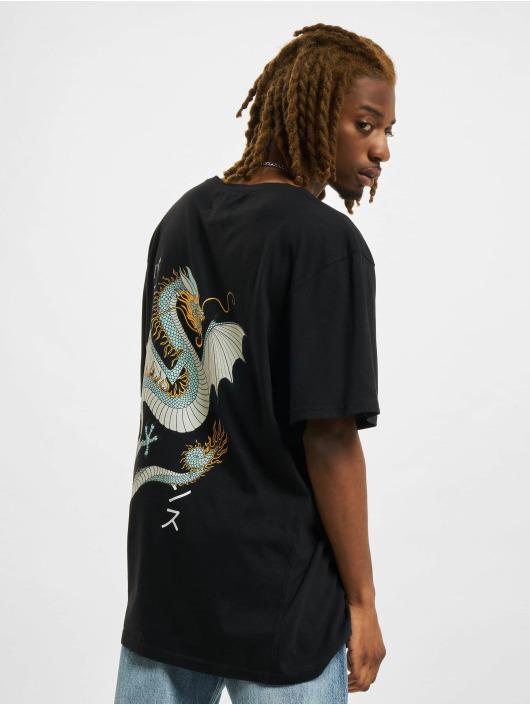 Denim Project T-shirt Dragon Washed Box Fit nero