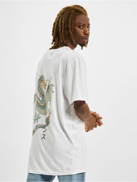 Denim Project T-shirts Dragon Washed Box Fit hvid