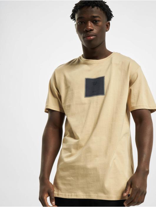 Denim Project T-Shirty Front S Logo bezowy
