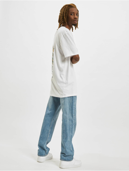 Denim Project T-Shirty Dragon Washed Box Fit bialy