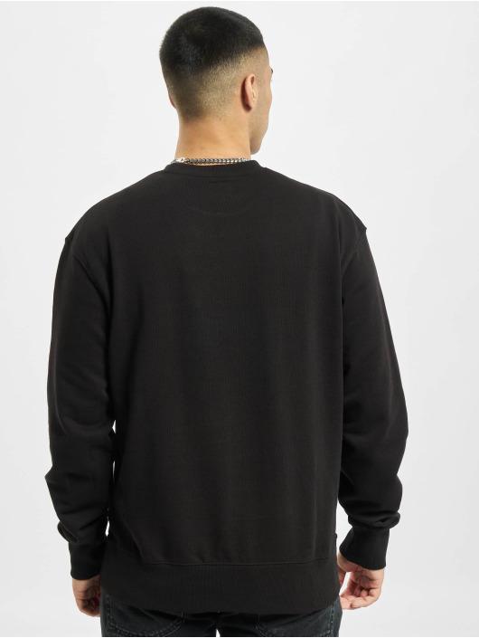 Denim Project trui Horizon Logo Organic zwart