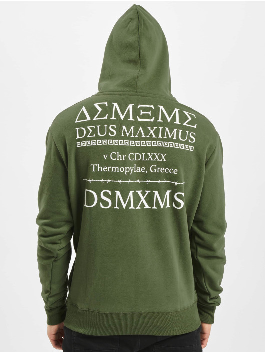 Deus Maximus Hoodies Thermopylae olivový
