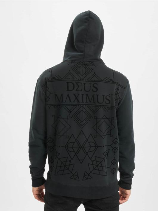 Deus Maximus Hoody Velvet zwart