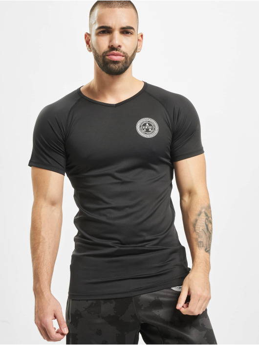 Deus Maximus Shirts desportes Workout negro