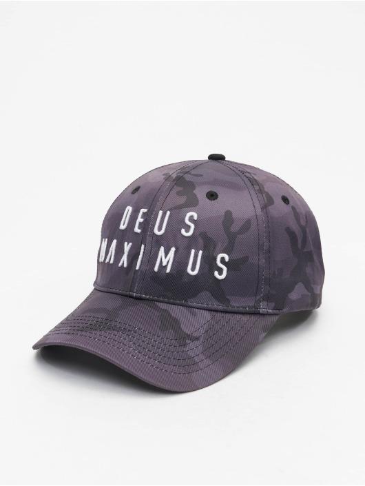 Deus Maximus Snapback Cap Camouflage mimetico