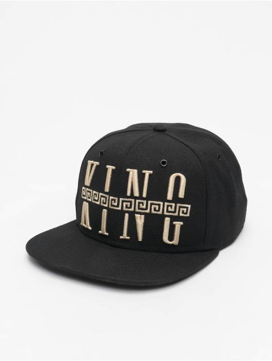 Deus Maximus Snapback Cap King schwarz