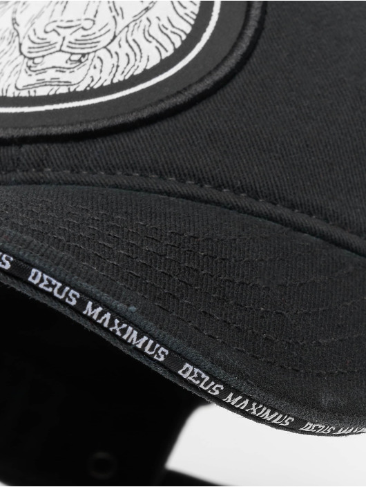 Deus Maximus snapback cap Nemeos zwart