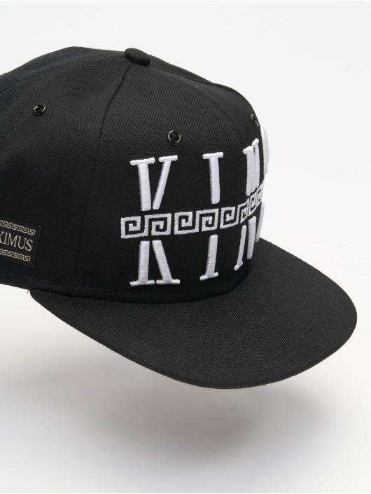Deus Maximus snapback cap King zwart