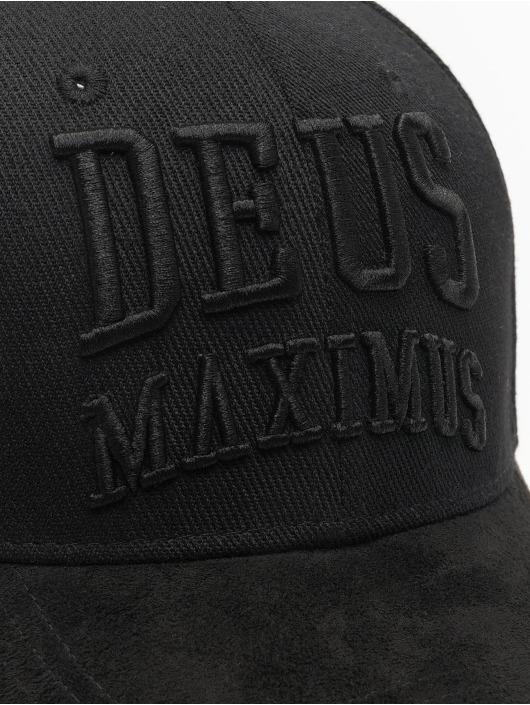 Deus Maximus Snapback Caps Maximus čern