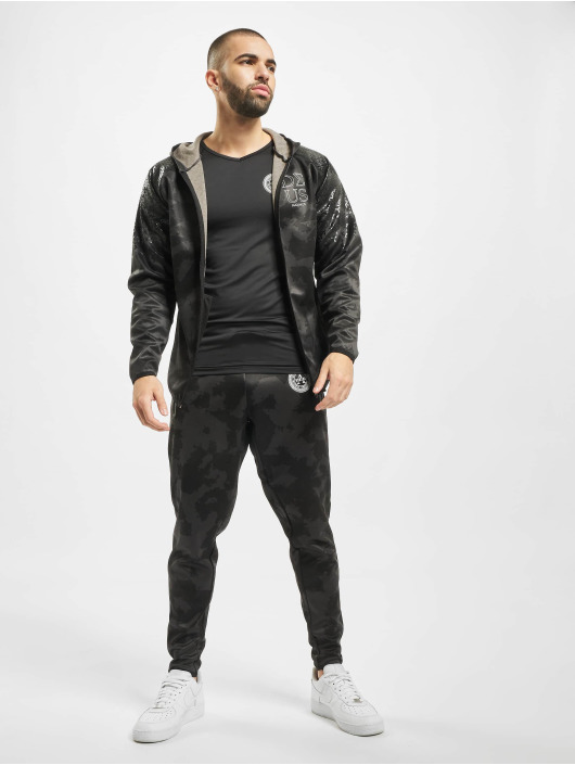 Deus Maximus Sportshirts Workout czarny