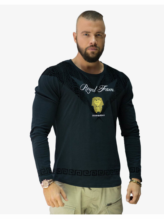 Deus Maximus T-Shirt manches longues Royal Family noir