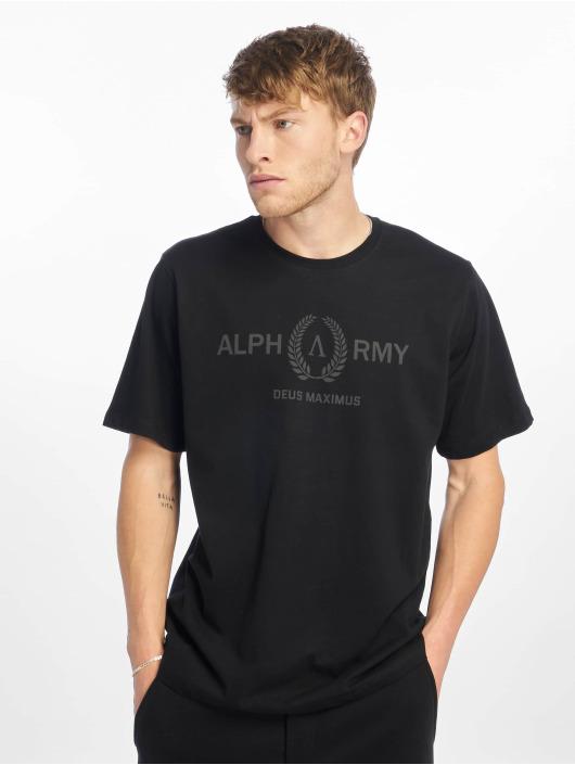 Deus Maximus t-shirt Menon zwart