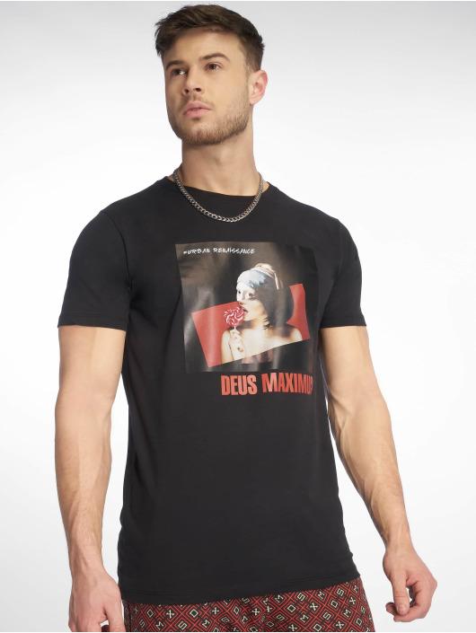 Deus Maximus T-Shirty Andries czarny