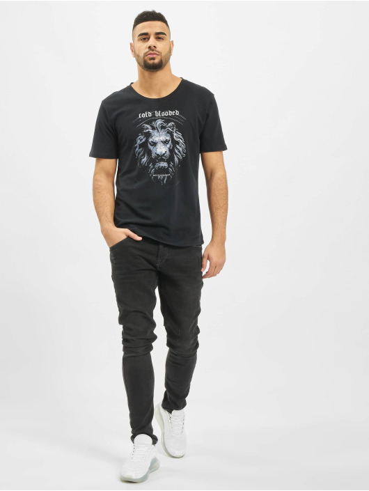 Deus Maximus T-Shirty Cold Blooded czarny
