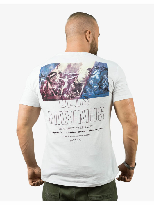 Deus Maximus T-skjorter Private World hvit