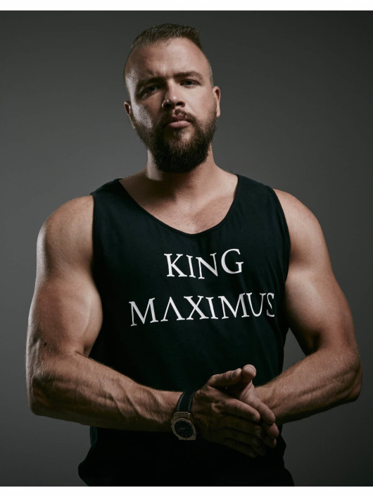 Deus Maximus Tank Tops King nero