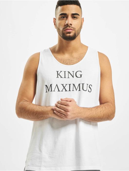 Deus Maximus Tank Tops King valkoinen