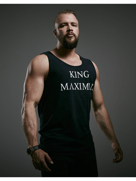 Deus Maximus Tanktop King zwart