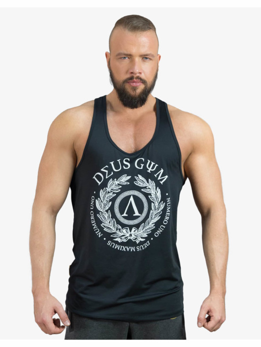 Deus Maximus Urheilutanktoppits Uno musta
