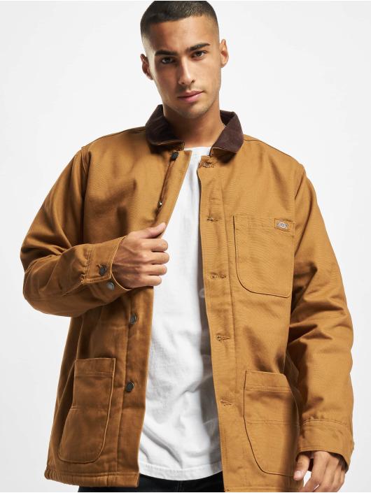 Dickies Демисезонная куртка DC Chore коричневый