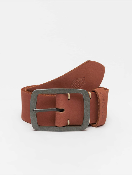 Dickies Ремень Eagle Lake Leather коричневый