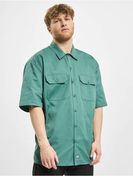 Dickies Camisa Short Sleeveork verde