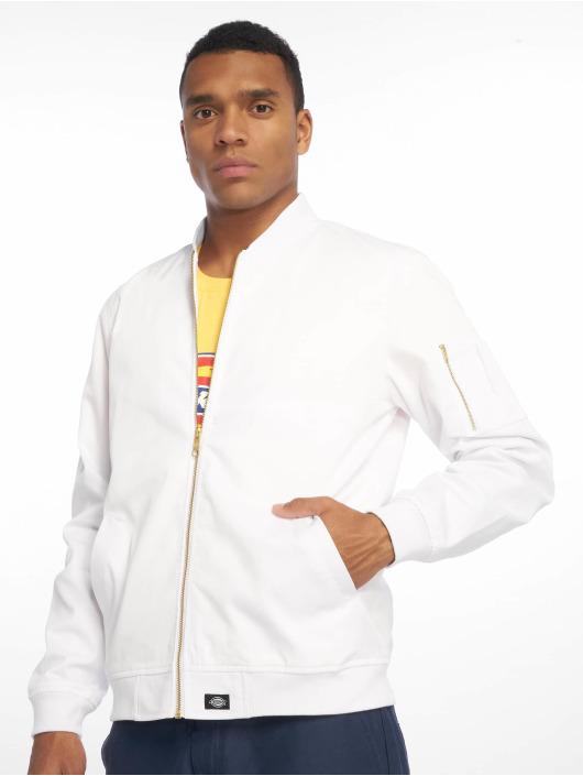 Dickies Giubbotto Bomber Hughson Streetwear bianco