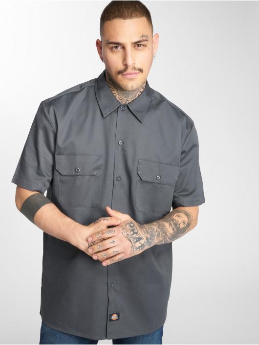 Dickies Hemd Short Sleeve Slim Work grau