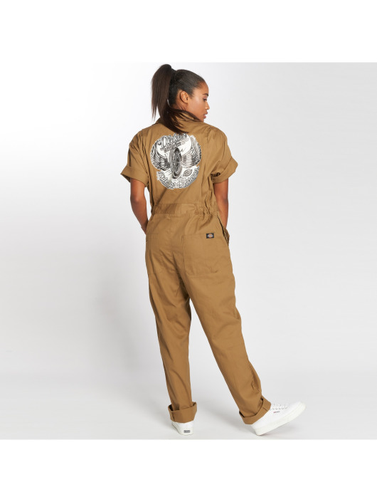 Dickies Jumpsuits Quinlan brazowy