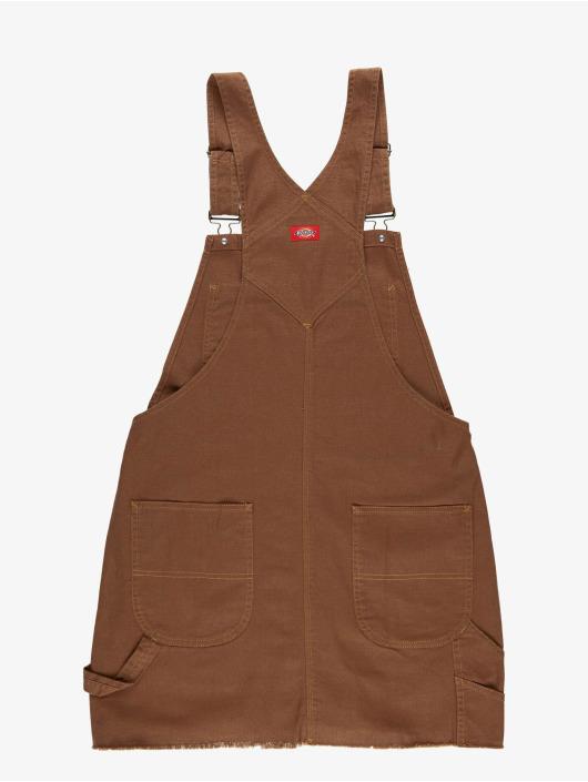 Dickies jurk Hopewell Denim bruin