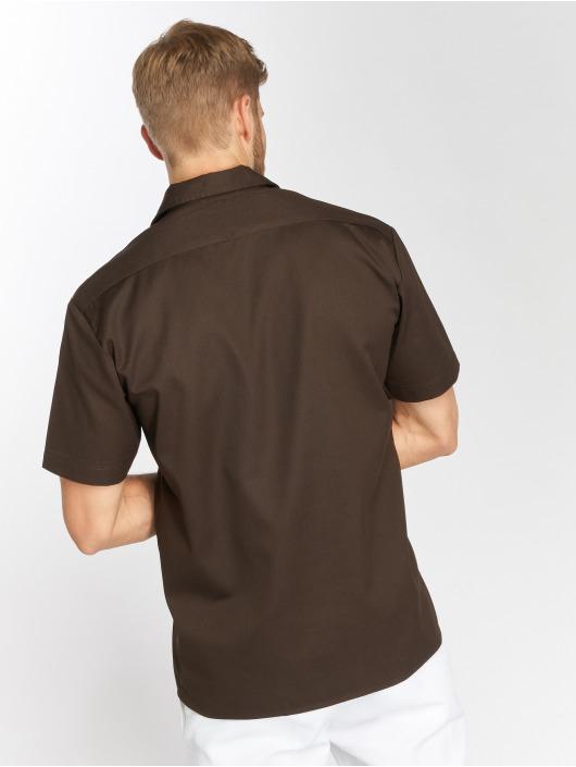 Dickies Košele Shorts Sleeve Work hnedá