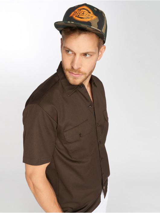 Dickies Koszule Shorts Sleeve Work brazowy