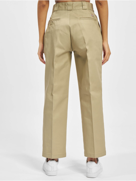 Dickies Látkové kalhoty 874 Cropped hnědožlutý