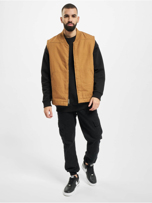 Dickies Lightweight Jacket Sherpa Lined Vest brown