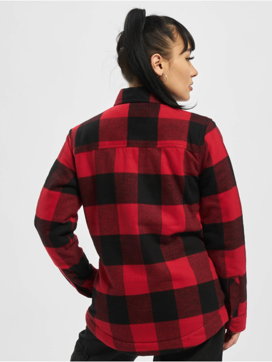 Dickies Lightweight Jacket Plaid Sherpa Chore red