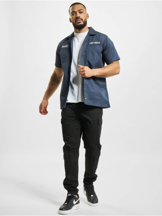 Dickies overhemd Halma blauw